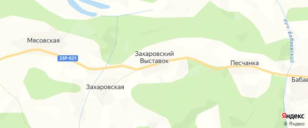 Карта деревни Захаровского Выставок в Кировской области с улицами и номерами домов