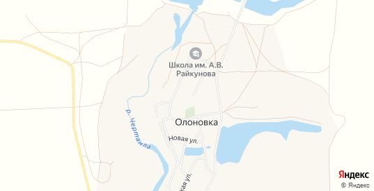 Карта села Олоновка в Саратовской области с улицами, домами и почтовыми отделениями со спутника онлайн