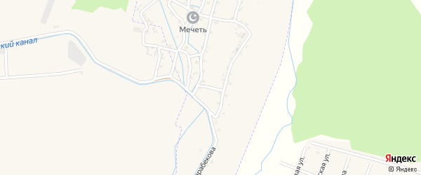Улица Джамалдина Карабекова на карте села Кумук Дагестана с номерами домов
