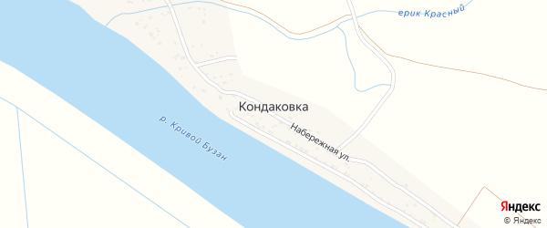 Полевая улица на карте поселка Кондаковки с номерами домов