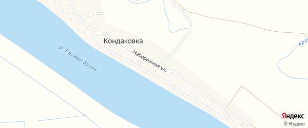 Набережная улица на карте поселка Кондаковки Астраханской области с номерами домов