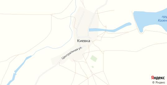 Карта села Киевка в Саратовской области с улицами, домами и почтовыми отделениями со спутника онлайн