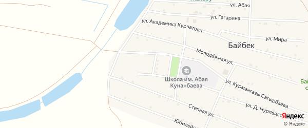 Улица И.Алтынсарина на карте села Байбека Астраханской области с номерами домов