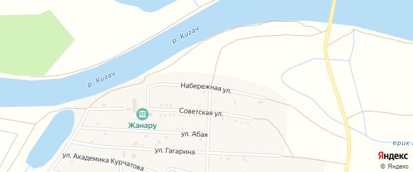 Набережная улица на карте села Байбека Астраханской области с номерами домов