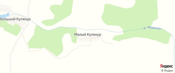 Карта деревни Малого Кулянура в Кировской области с улицами и номерами домов