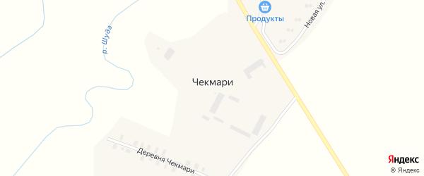 Полевая улица на карте деревни Чекмари Кировской области с номерами домов