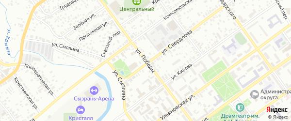 Улица 70-ти летия Победы на карте Сызрани с номерами домов