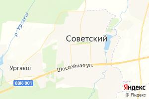 Карта пос. Советский Республика Марий Эл