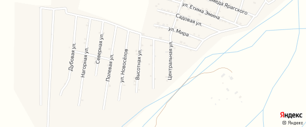 Улица Валентина Эмирова на карте села Самура Дагестана с номерами домов