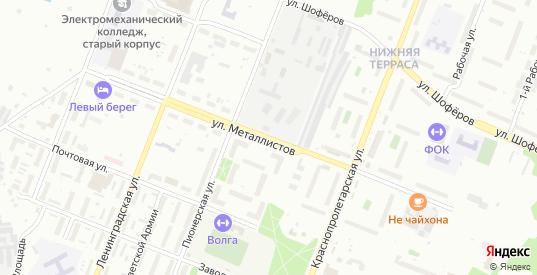 Улица Металлистов в Ульяновске с номерами домов на карте. Спутник и схема онлайн