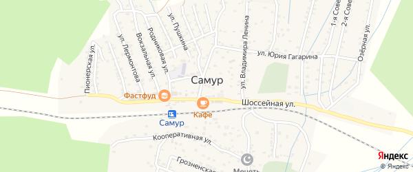 Южная улица на карте села Самура Дагестана с номерами домов