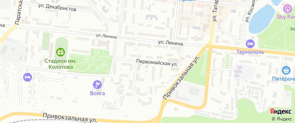 Первомайская улица на карте Зеленодольска с номерами домов