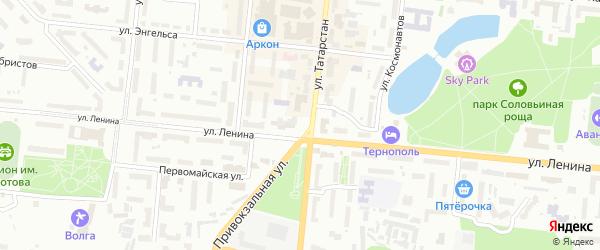 ГСК 14 квартал на карте Зеленодольска с номерами домов