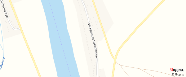 Набережная улица на карте села Тумака Астраханской области с номерами домов