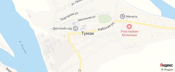 Степная улица на карте села Тумака с номерами домов