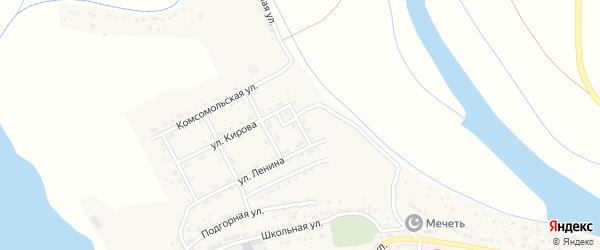 Улица Чапаева на карте села Тумака Астраханской области с номерами домов