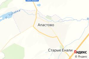 Карта пгт Апастово Республика Татарстан