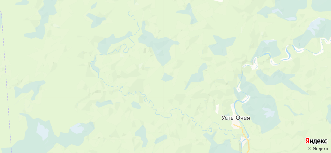 Очея на карте