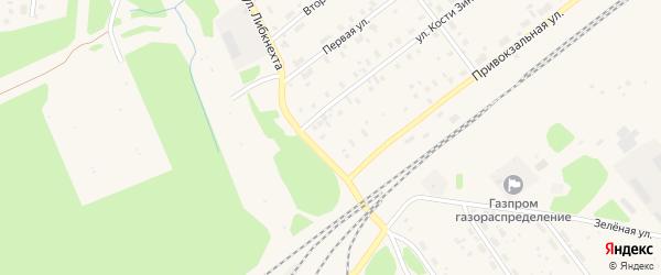 Урдомский переулок на карте поселка Урдома Архангельской области с номерами домов