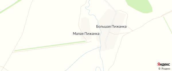 Карта деревни Малой Пижанки в Кировской области с улицами и номерами домов