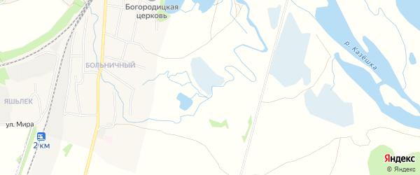 Территория днт Волжские зори на карте Зеленодольского района Татарстана с номерами домов