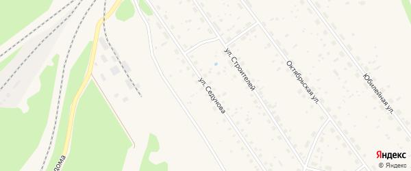 Улица Седунова на карте поселка Урдома Архангельской области с номерами домов