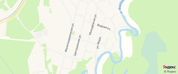 ГСК Родина на карте Молодежной улицы с номерами домов