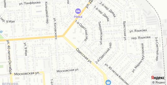 Одесский 1-й переулок в Ульяновске с номерами домов на карте. Спутник и схема онлайн
