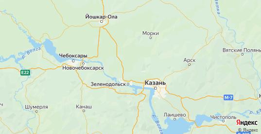 Карта Волжского района республики Марий Эл с городами и населенными пунктами