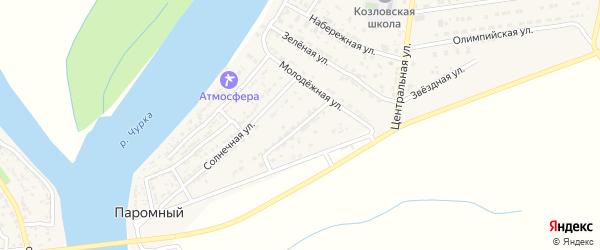 Молодежная улица на карте Паромного поселка с номерами домов