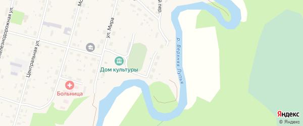 Спортивная улица на карте поселка Урдома Архангельской области с номерами домов