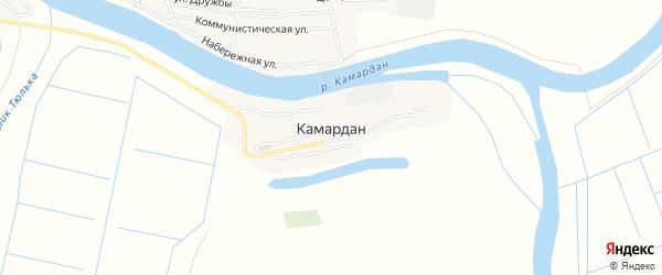 Карта поселка Камардан в Астраханской области с улицами и номерами домов