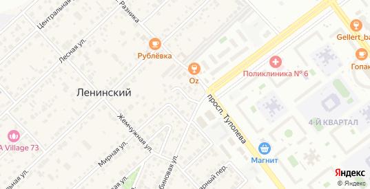Удачный переулок в Ульяновске с номерами домов на карте. Спутник и схема онлайн