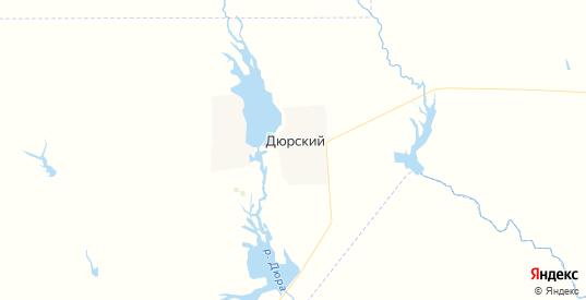 Карта территории Дюрского МО Саратовской области с районами, улицами и номерами домов