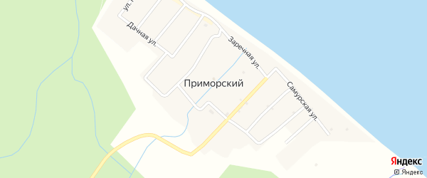 Улица Гагарина на карте села Приморского Дагестана с номерами домов