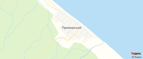 Карта села Приморского в Дагестане с улицами и номерами домов