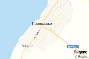 Карта с. Приволжье Самарская область