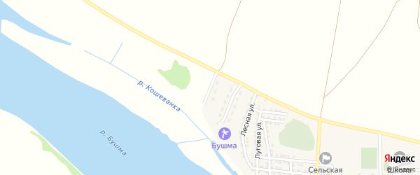 Волжская улица на карте села Зеленга с номерами домов