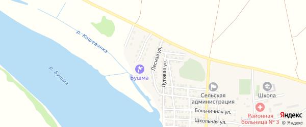 Лесная улица на карте села Зеленга с номерами домов