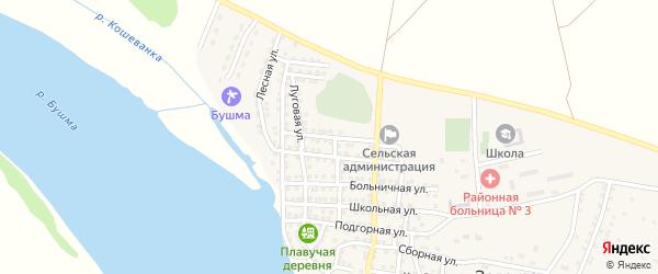 Юбилейная улица на карте села Зеленга Астраханской области с номерами домов