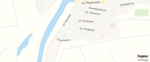 Комсомольская улица на карте села Тишково с номерами домов