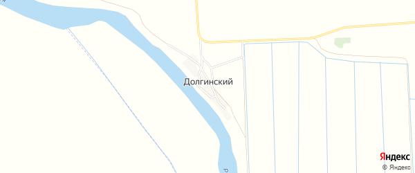Карта Долгинский поселка в Астраханской области с улицами и номерами домов