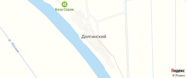 Улица Гафурова на карте Долгинский поселка Астраханской области с номерами домов