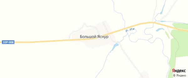 Карта деревни Большого Яснура в Кировской области с улицами и номерами домов
