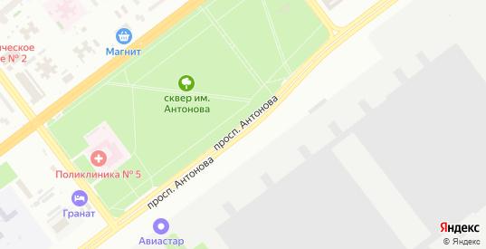 Проспект Антонова в Ульяновске с номерами домов на карте. Спутник и схема онлайн