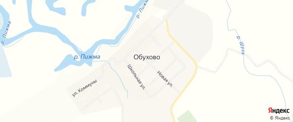 Карта села Обухово в Кировской области с улицами и номерами домов