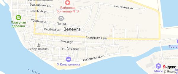 Советская улица на карте села Зеленга с номерами домов