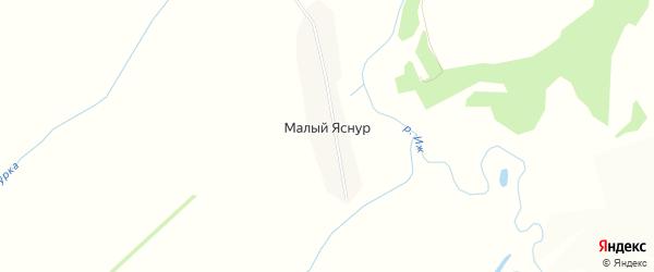 Карта деревни Малого Яснура в Кировской области с улицами и номерами домов