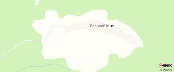 Карта деревни Большого Мыса в Архангельской области с улицами и номерами домов