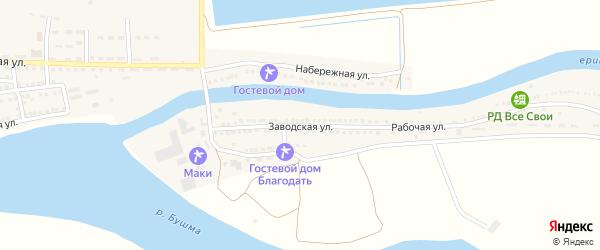 Заводская улица на карте села Зеленга с номерами домов